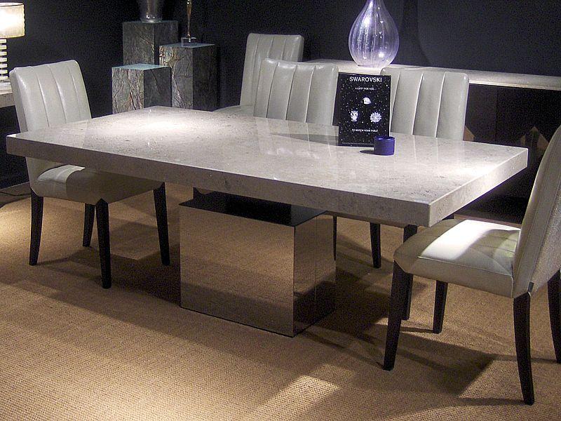 Athena Thick Edge Dining Table La Source
